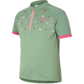 Ziener Cadlin Koszulka rowerowa z zamkiem błyskawicznym Dzieci, hay green
